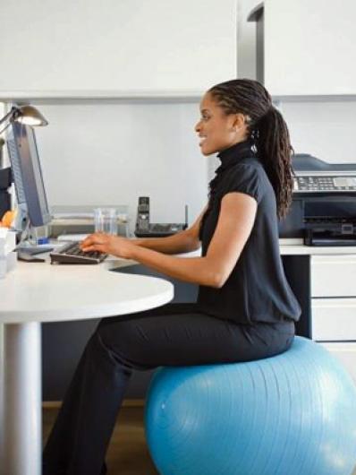 pelota pilates silla oficina